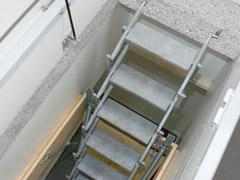 Gorter scissor stair extension for within the plenum space