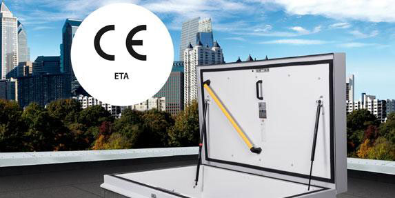 Roof hatch with CE-ETA