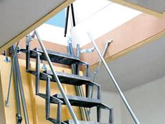 Scissor stairs - roof access with Gorter Scissor stairs - attic ladders